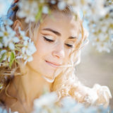 Spring bride portrait Stock Photos