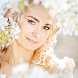 Spring bride portrait Royalty Free Stock Photography