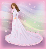 Spring bride, vector illustration Royalty Free Stock Images