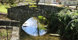 Spring Bridge Royalty Free Stock Photos