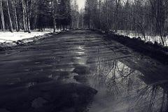 Spring broken road Stock Image