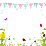Spring bunting on a white background Royalty Free Stock Photography