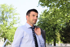 Spring businessman Royalty Free Stock Photography