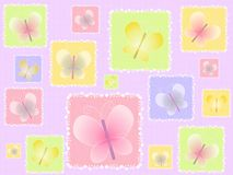 Spring Butterflies Light Background vector illustration