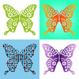 Spring butterfly color composition. Illustration layered for easy manipulation and custom coloring. Illustration Stock Images