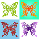Spring butterfly color composition. Illustration layered for easy manipulation and custom coloring. Vector Stock Image