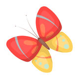Spring butterfly. Easter single icon in cartoon style vector symbol stock illustration. Royalty Free Stock Image