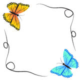 Spring butterfly and winter butterfly Stock Photos