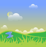 Spring Butterflys in front of the hill Royalty Free Stock Image