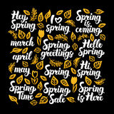 Spring Calligraphy Design Stock Photography