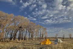 Spring camping in Wyoming Stock Photos