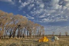Spring camping in Wyoming Stock Photos