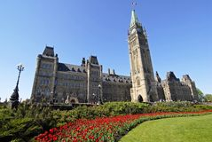 Spring at Canada's Parliament Royalty Free Stock Photos