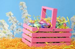 Spring candy eggs Stock Photo
