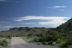 Spring Canyon park road. stock image