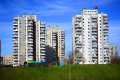 Spring in capital of Lithuania Vilnius city Seskine district Royalty Free Stock Photos