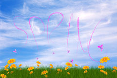 Spring card Royalty Free Stock Photos
