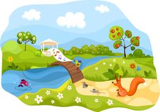 Spring card. Vector Illustration of a spring card Stock Photo