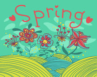 Spring card Stock Photography