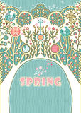 Spring card. Stock Photos