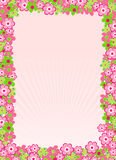 Spring card. Vector illustration of Spring time card with flowers Royalty Free Stock Images