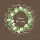 Spring card with abstract flowers Stock Image