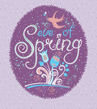 Spring card. Royalty Free Stock Image
