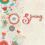Spring card Stock Image