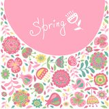 Spring card for congratulations Royalty Free Stock Photos