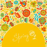 Spring card for congratulations Royalty Free Stock Photo