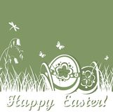 Spring card with easter eggs Stock Photography