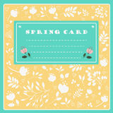 Spring Card on the floral background. Vector illustration Royalty Free Stock Images