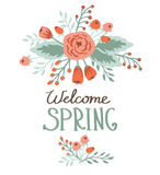 Spring card with floral elements Royalty Free Stock Images