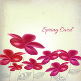 Spring card. With flowers design layout Stock Illustration