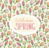 Spring card with flowers Royalty Free Stock Image