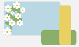 Spring card with flowers material design Royalty Free Stock Photography