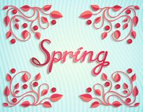 Spring card with pattern Royalty Free Stock Image