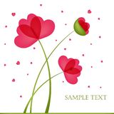 Spring card with poppies Stock Image