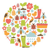 Spring card stock illustration