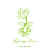 Spring card with an unusual flower Royalty Free Stock Photos