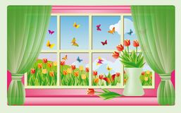 Spring card, vector Stock Images