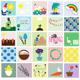 Spring cards set. Royalty Free Stock Photography