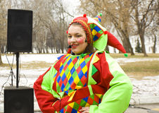 Spring carnaval in Russia Royalty Free Stock Photo