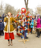 Spring carnival in Russia Royalty Free Stock Photos