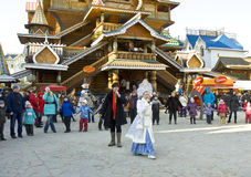 Spring carnival in Russia Stock Photo