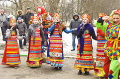 Spring carnival in russia Royalty Free Stock Photo