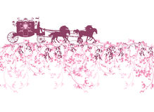 Spring carriage border Royalty Free Stock Photography