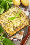 Spring casserole with nettle Royalty Free Stock Photo