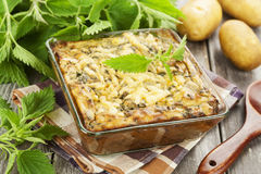 Spring casserole with nettle Royalty Free Stock Images
