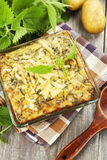 Spring casserole with nettle Royalty Free Stock Photography